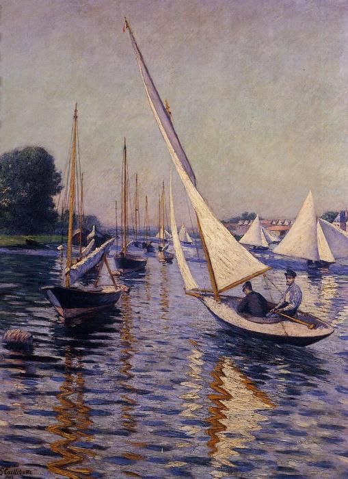 Regata ad Argenteuil, 1893 di Gustave Caillebotte (1848-1894, France) | WahooArt.com