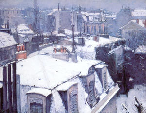 Gustave Caillebotte - Tetti Sotto Neve