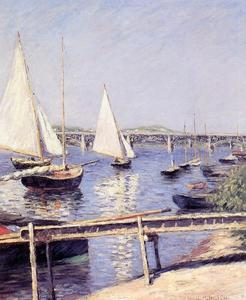 Gustave Caillebotte - Barche a vela in Argenteuil