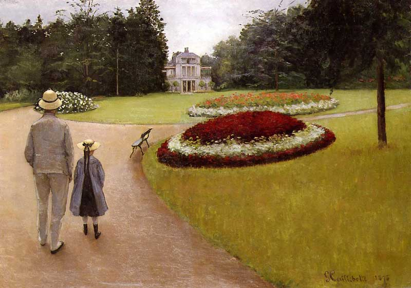Il parco presso l immobile Caillebotte a Yerres, 1875 di Gustave Caillebotte (1848-1894, France) | WahooArt.com