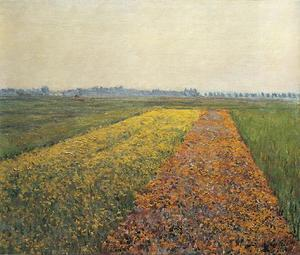 Gustave Caillebotte - il giallo campi a `gennevilliers