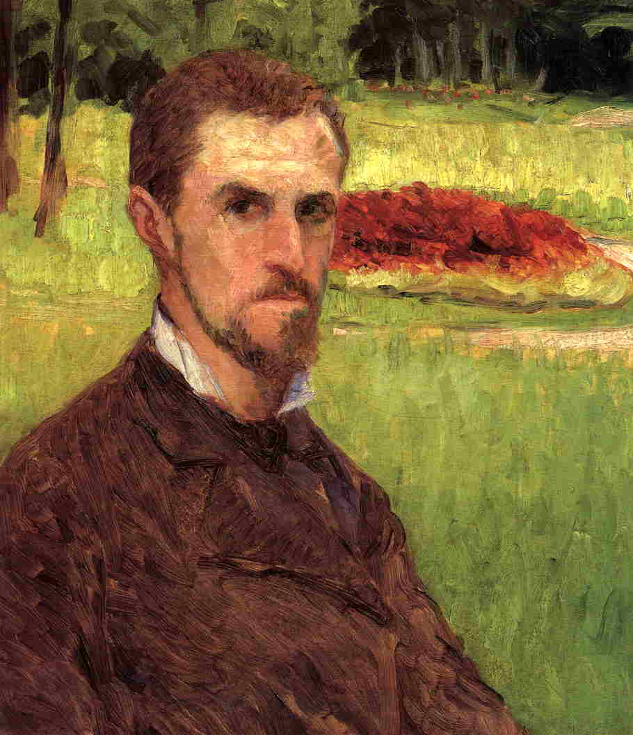 Self-Portrait nel parco a yerres, 1875 di Gustave Caillebotte (1848-1894, France) | WahooArt.com