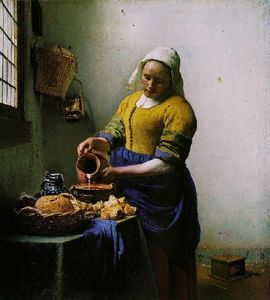 Jan Vermeer - la lattaia [ c . 1658-60 ]