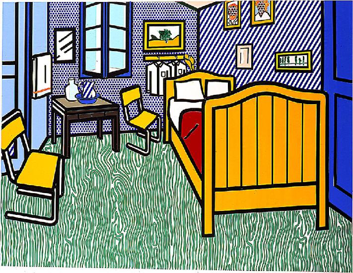 Lichtenstein Bedroom At Arles.Camera Da Letto Ad Arles Olio Di Roy ...