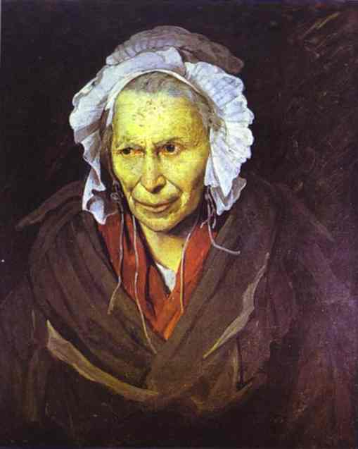 La pazza, olio di Jean-Louis André Théodore Géricault ... Theodore G��ricault
