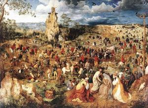 Pieter Bruegel The Elder - Cristo portacroce cross