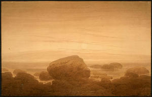 Caspar David Friedrich - Moonrise su un puntello vuoto