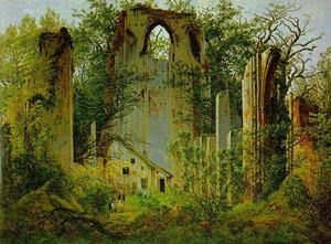 Caspar David Friedrich - Le rovine di Eldena Abbey1