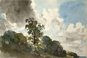 John Constable - cloud studio con alberi