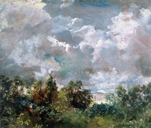 John Constable - Studio nuvole con  trees1