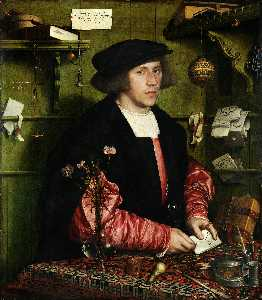 Hans Holbein The Younger - Ritratto del Mercantile Georg Gisze