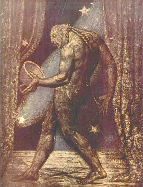 Il fantasma di un mercatino delle pulci, 1820 di William Blake (1757-1827, United Kingdom) | Stampe Di Qualità Del Museo William Blake | WahooArt.com