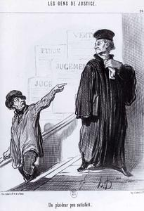 Honoré Daumier - Una parte in causa Disgruntled