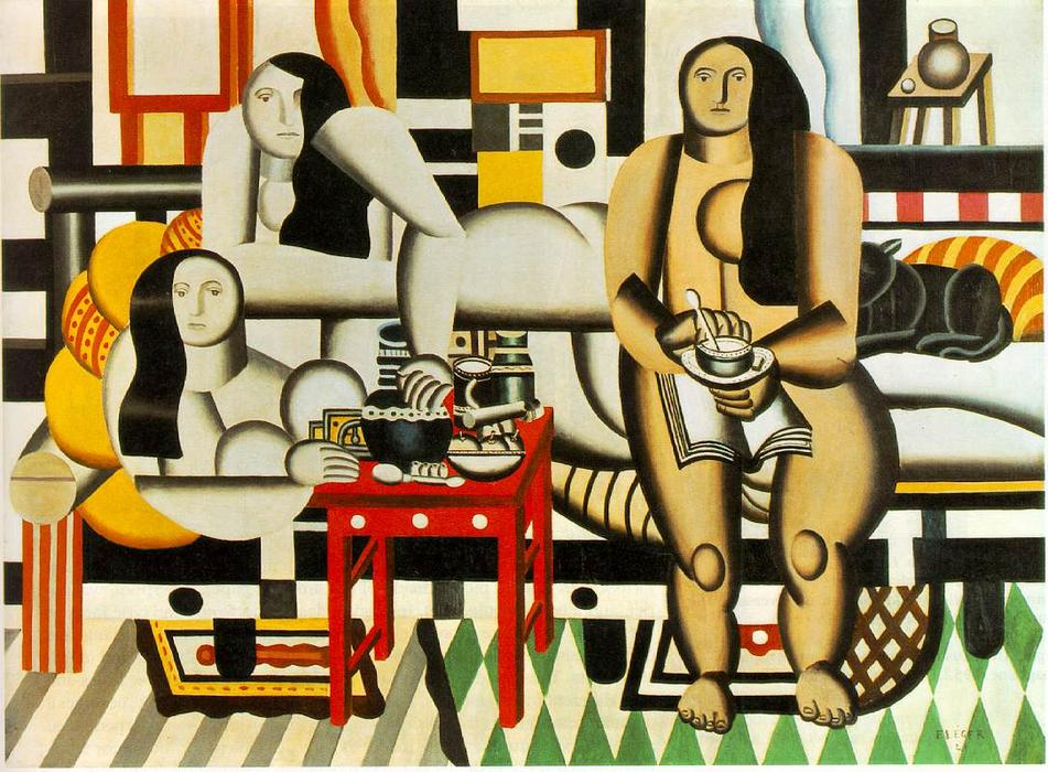 tre donne, 1921 di Fernand Leger (1881-1955, France)