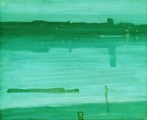 Ordinare Copia Pittura : notturno in blu e verde , Chelsea di James Abbott Mcneill Whistler (1834-1903, United States) | WahooArt.com