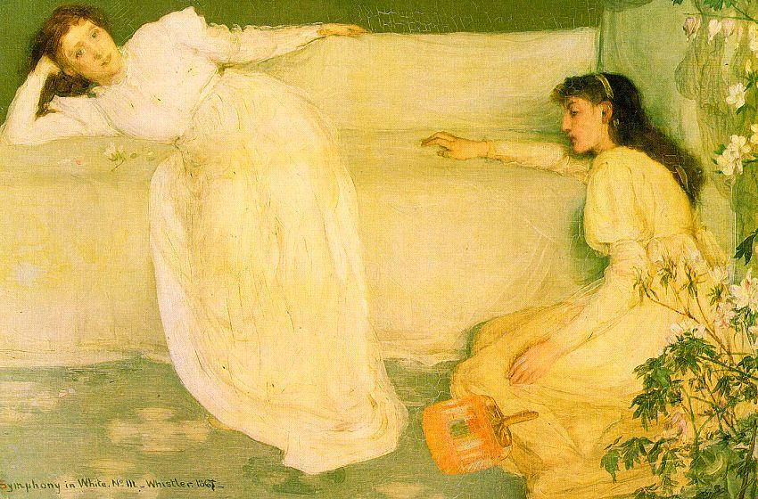 sinfonia in bianco numero 3  , olio di James Abbott Mcneill Whistler (1834-1903, United States)