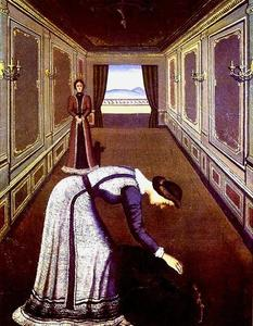 Paul Delvaux - il rose
