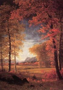 Albert Bierstadt - autunno in america , Oneida Paese , a new york