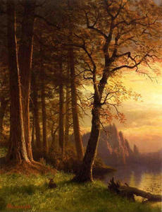 Albert Bierstadt - Tramonto in California Yosemite