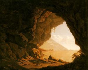 Joseph Wright Of Derby - Un caverna  mattino
