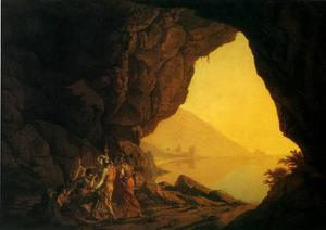Joseph Wright Of Derby - Un Grotta del Sea-Side nel Regno di Napoli