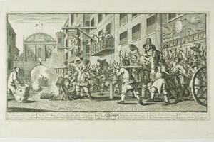 William Hogarth - bruciare le groppe a temple bar , undici piatto da hudibras