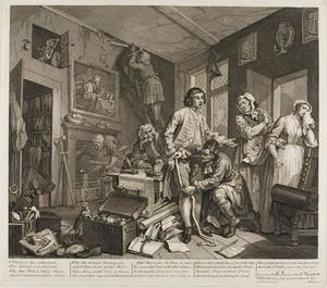 William Hogarth - Plate one , da un Rake's Progress