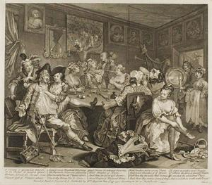 William Hogarth - Plate tre , da un Rake's Progress