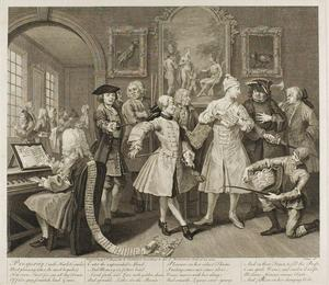 William Hogarth - Plate due , da un Rake's Progress
