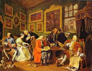William Hogarth - Il contratto di matrimonio