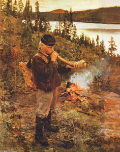 Akseli Gallen Kallela - Shepherd Boy from Paanajarvi