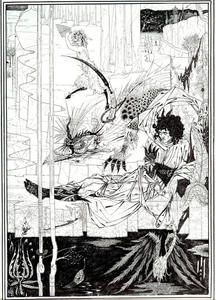 Aubrey Vincent Beardsley - Come Re Artù Saw the Questing Beast