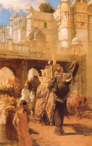 Edwin Lord Weeks - A Royal Procession