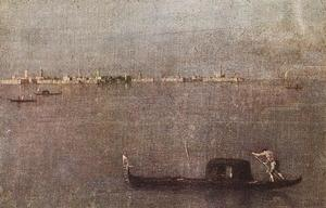 Francesco Lazzaro Guardi - Gondola in laguna