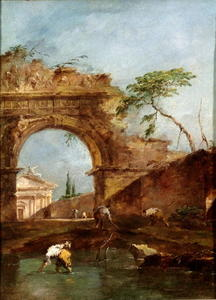 Francesco Lazzaro Guardi - Landscape - capriccio