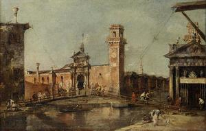 Francesco Lazzaro Guardi - Tor zum Arsenal in Venedig