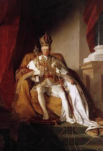 Friedrich Ritter Von Amerling - l imperatore francesco i d austria nel suo coronation robes