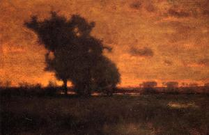 George Inness - Tramonto a Milton