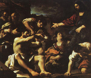 Guercino (Barbieri, Giovanni Francesco) - il `raising` di lazzaro