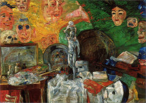 James Ensor - `attributes` del studio