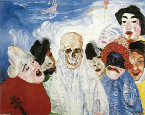 James Ensor - morte e il maschere