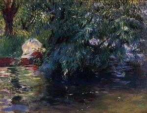 John Singer Sargent - Un stagno  Calcot Mill vicino a Reading