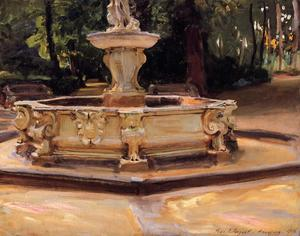 John Singer Sargent - Una fontana in marmo a Aranjuez in Spagna