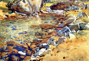 John Singer Sargent - Brook tra Rocks