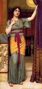 John William Godward - A Lady pompeiano