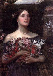 John William Waterhouse - Raccogliere studio rosebuds voi