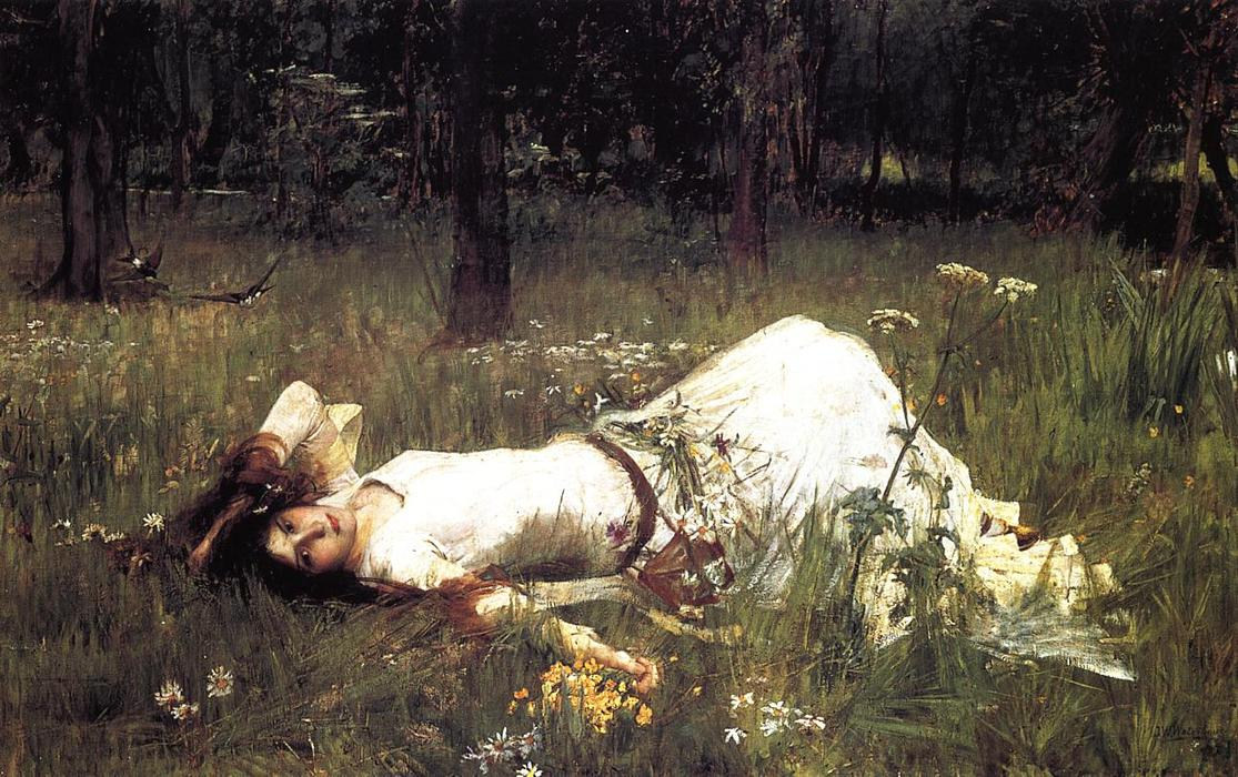 Ophelia 1, olio di John William Waterhouse (1849-1917, Vatican)