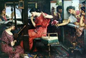 John William Waterhouse - Penelope e Proci