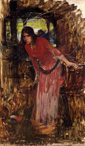 John William Waterhouse - studio per la signora  di  Scalogno