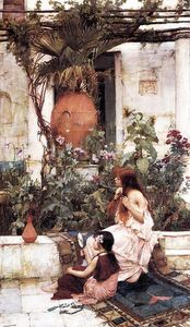 John William Waterhouse - Il bagno aka A Capri